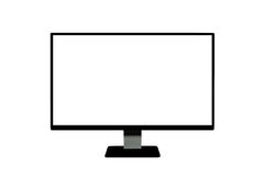 Monitor de Computer Fotos de Stock Royalty Free