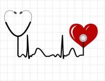 Monitor de coração ilustração stock