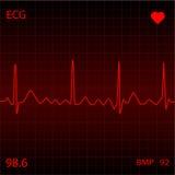 Monitor de coração vermelho Imagem de Stock Royalty Free
