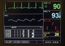 Monitor de coração Imagens de Stock Royalty Free