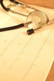 Monitor de corazón Fotografía de archivo