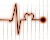 Monitor de corazón Imagenes de archivo