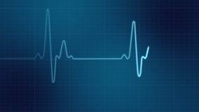 Monitor de corazón de EKG stock de ilustración