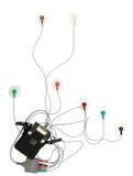 Monitor de corazón de Holter con el camino de recortes Imagenes de archivo