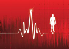 Monitor de corazón Imágenes de archivo libres de regalías