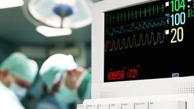 Monitor de ECG na sala de operação video estoque
