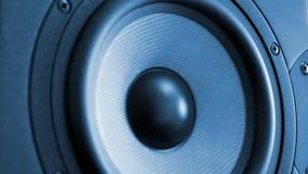 Monitor de estudio profesional móvil de la música almacen de metraje de vídeo