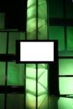 Monitor de la presentación en blanco Imágenes de archivo libres de regalías