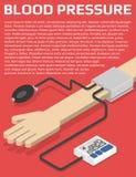 Monitor de la presión arterial a mano Fotografía de archivo