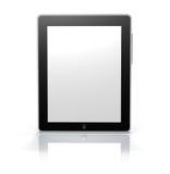Monitor de la tablilla de la pantalla táctil (camino de recortes) Fotografía de archivo libre de regalías