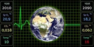 Monitor de la tierra Imagen de archivo libre de regalías