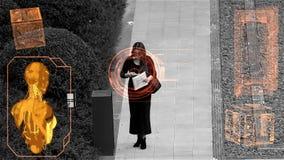 Monitor de la vigilancia ilustración del vector