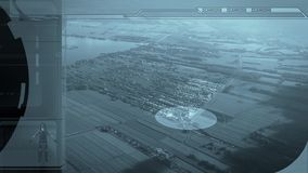 Monitor de la vigilancia almacen de metraje de vídeo