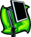 Monitor de TFT con un soporte Foto de archivo libre de regalías
