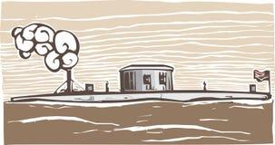 Monitor de USS stock de ilustración