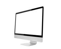 Monitor del computer, come il mackintosh con lo schermo in bianco Immagine Stock Libera da Diritti