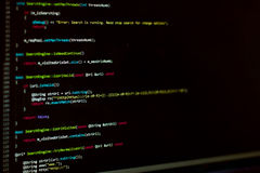 Monitor del desarrollador de las TIC imagen de archivo