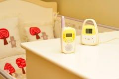 Monitor del dormitorio del bebé Imagenes de archivo