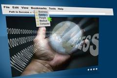monitor del Internet del HTTP del Web de WWW Imagenes de archivo