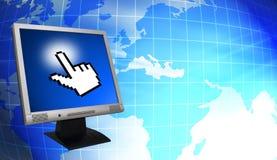 Monitor del Lcd stock de ilustración