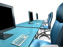 MONITOR DEL LCD DE LA OFICINA Imagen de archivo libre de regalías