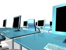 MONITOR DEL LCD DE LA OFICINA Imágenes de archivo libres de regalías