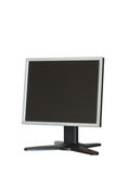 Monitor del LCD del ordenador aislado Fotografía de archivo