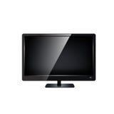 Monitor del Lcd TV aislado. Foto de archivo libre de regalías