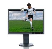 Monitor del LCD y retroceso posterior Fotos de archivo libres de regalías
