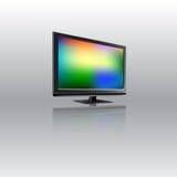 Monitor dell'affissione a cristalli liquidi con fondo astratto sullo schermo Illustrazione di vettore Fotografia Stock Libera da Diritti