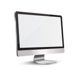 Monitor dell'affissione a cristalli liquidi TV, illustrazione di vettore. Immagine Stock