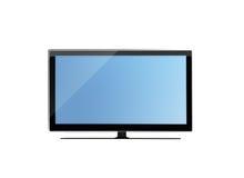 Monitor dell'affissione a cristalli liquidi TV isolato su fondo bianco Fotografie Stock
