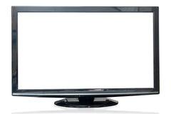Monitor della televisione isolato su fondo bianco Fotografie Stock Libere da Diritti