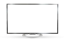 Monitor della televisione isolato su fondo bianco Immagini Stock