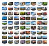 Monitor della TV con le immagini immagine stock