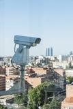 Monitor della videocamera di sicurezza il movimento Immagine Stock Libera da Diritti
