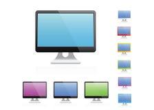 Monitor dello schermo in bianco Immagini Stock