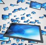 Monitor dello schermo piano o TV Immagini Stock