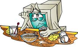 Monitor deprimido do computador Foto de Stock