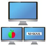 Monitor der elektronischen Geräte Stock Abbildung
