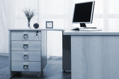 Monitor on desk Stock Photos