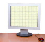 Monitor - desktop computer Stock Images