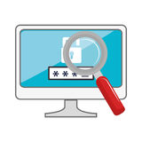 monitor desktop computer with security system Royalty Free Stock Photography