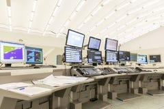 Monitor di controllo del traffico aereo Fotografia Stock Libera da Diritti