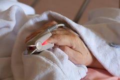 Monitor di cuore del dito Immagini Stock