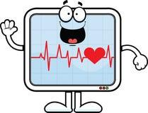Monitor di cuore del fumetto felice Fotografie Stock Libere da Diritti