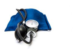 Monitor di pressione sanguigna Fotografia Stock Libera da Diritti