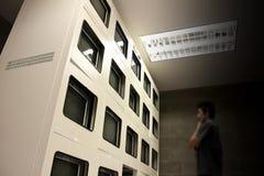 Monitor di tecnologia di sicurezza Fotografia Stock