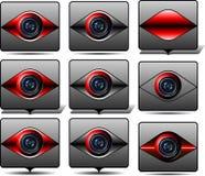 Monitor di videosorveglianza Fotografia Stock Libera da Diritti