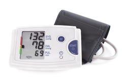 Monitor digitale di pressione sanguigna di ipertensione - Tonometer Azione I Immagine Stock